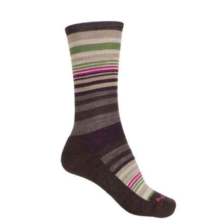 SmartWool Jovian Stripe Socks - Merino Wool, Crew (For Women) in Chestnut - Closeouts