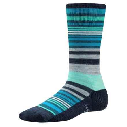 SmartWool Jovian Stripe Socks - Merino Wool, Crew (For Women) in Deep Navy Heather - Closeouts