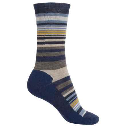 SmartWool Jovian Stripe Socks - Merino Wool, Crew (For Women) in Ink Heather - Closeouts
