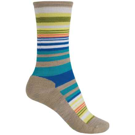 SmartWool Jovian Stripe Socks - Merino Wool, Crew (For Women) in Oatmeal Heather - Closeouts