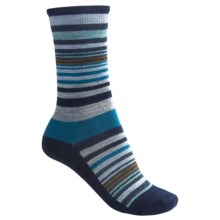 SmartWool Jovian Stripe Socks - Merino Wool, Crew (For Women) in Union Blue Heather - 2nds