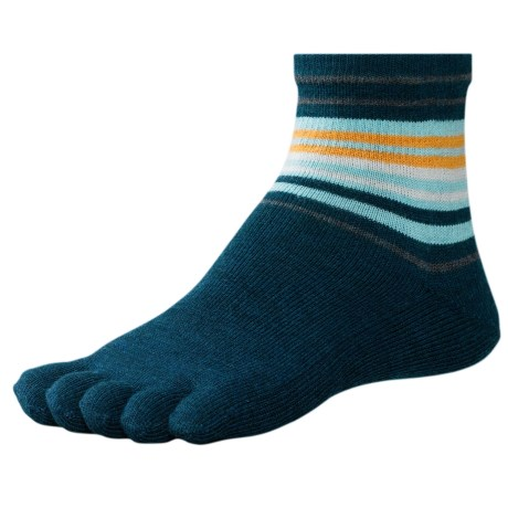 SmartWool Jovian Toe Socks - Merino Wool (For Women) in Deep Sea Heather