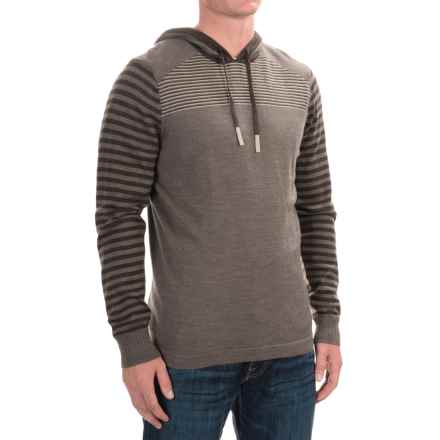 SmartWool Kiva Ridge Hoodie - Merino Wool (For Men) in Taupe Heather - Closeouts