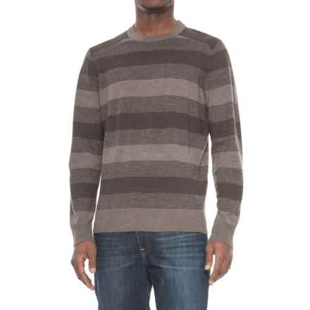 SmartWool Kiva Ridge Stripe Sweater (For Men) in Taupe Heather - Closeouts