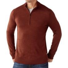 SmartWool Kiva Ridge Sweater - Merino Wool, Zip Neck (For Men) in Cinnamon Heather - Closeouts