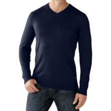 SmartWool Kiva Ridge V-Neck Sweater - Merino Wool (For Men) in Deep Navy Heather - Closeouts