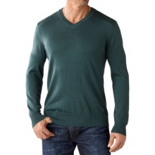 SmartWool Kiva Ridge V-Neck Sweater - Merino Wool (For Men) in Sea Pine Heather - Closeouts