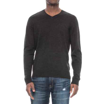 SmartWool Kiva Ridge V-Neck Wool Sweater - Merino Wool (For Men) in Charcoal Heather - Closeouts
