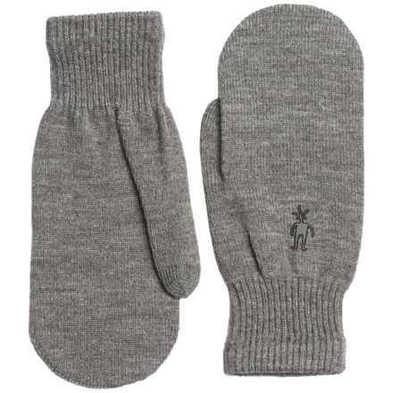 SmartWool Knit Mittens - Merino Wool Blend (For Women) in Silver Grey Heather - Closeouts