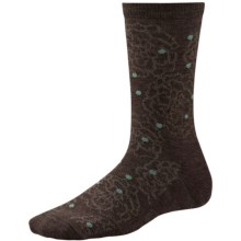SmartWool Knoll Garden Socks - Merino Wool, Crew (For Women) in Chestnut - Closeouts