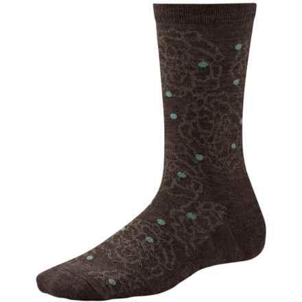 SmartWool Knoll Garden Socks - Merino Wool, Crew (For Women) in Chestnut - Closeouts
