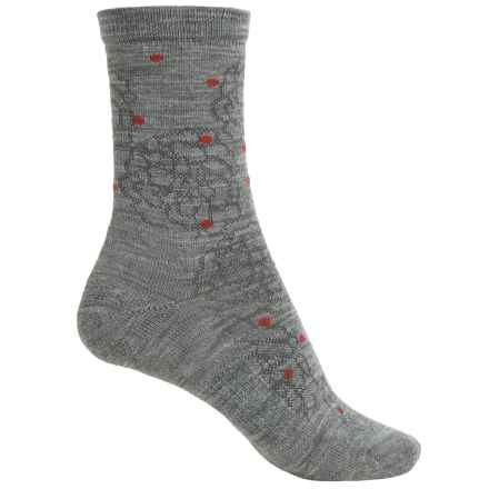 SmartWool Knoll Garden Socks - Merino Wool, Crew (For Women) in Light Gray Heather - Closeouts