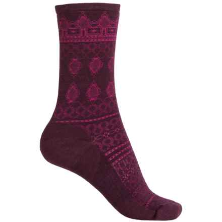 SmartWool Lacet Socks - Merino Wool, Crew (For Women) in Aubergine Heather - Closeouts