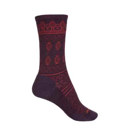 SmartWool Lacet Socks - Merino Wool, Crew (For Women) in Bordeaux Heather - Closeouts
