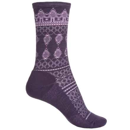SmartWool Lacet Socks - Merino Wool, Crew (For Women) in Dark Desert Purple - Closeouts