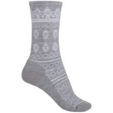 SmartWool Lacet Socks - Merino Wool, Crew (For Women) in Light Gray Heather - Closeouts