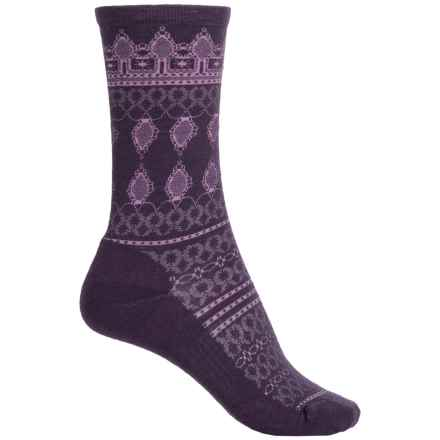 SmartWool Lacet Socks - Merino Wool, Crew (For Women) in Mountain Purple Heather - Closeouts