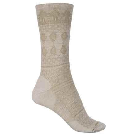 SmartWool Lacet Socks - Merino Wool, Crew (For Women) in Natural Heather - Closeouts