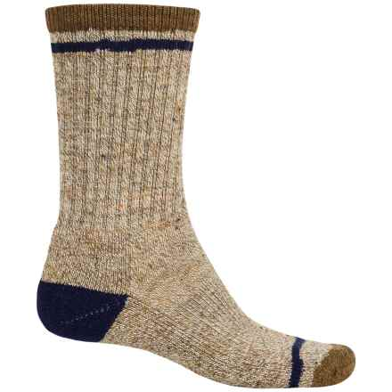 SmartWool Larimer Midweight Socks - Merino Wool, Crew (For Men) in Caramel Heather - Closeouts