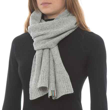 """SmartWool Larimer Scarf - Merino Wool, 68x9"""" (For Women) in Winter White Donegal - Overstock"""