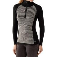 SmartWool Larkslope Sweater - Merino Wool, Zip Neck (For Women) in Black/Natural Heather - Closeouts