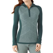 SmartWool Larkslope Sweater - Merino Wool, Zip Neck (For Women) in Sea Pine Heather - Closeouts