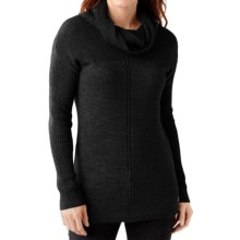 SmartWool Larkslope Tunic Sweater - Merino Wool (For Women) in Charcoal Heather - Closeouts