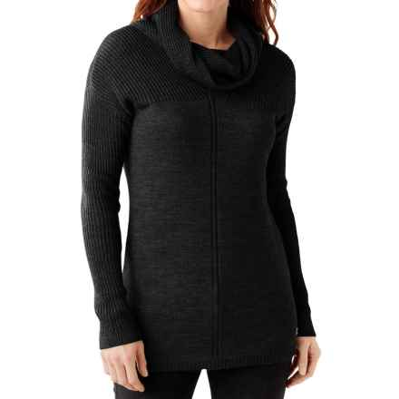 SmartWool Larkslope Tunic Sweater - Merino Wool (For Women) in Charcoal Heather - Closeouts