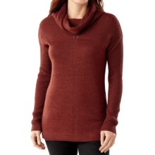 SmartWool Larkslope Tunic Sweater - Merino Wool (For Women) in Cinnamon Heather - Closeouts