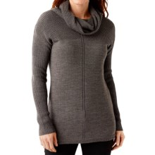 SmartWool Larkslope Tunic Sweater - Merino Wool (For Women) in Taupe Heather - Closeouts