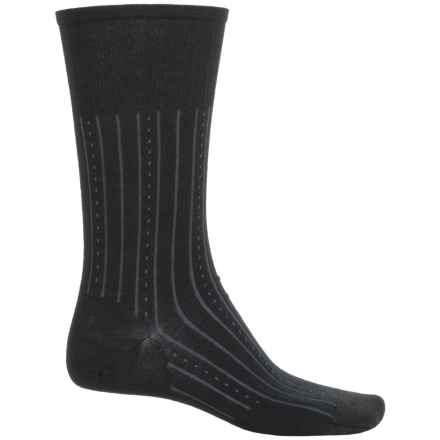 SmartWool Lifestyle Inline Non-Binding Socks - Merino Wool, Crew (For Men) in Black - Closeouts