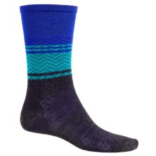 SmartWool Lifestyle Interzag Socks - Merino Wool, Mid-Calf (For Men and Women) in Charcoal Heather - 2nds