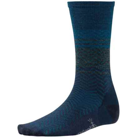 SmartWool Lifestyle Interzag Socks - Merino Wool, Mid-Calf (For Men and Women) in Deep Navy Heather - 2nds