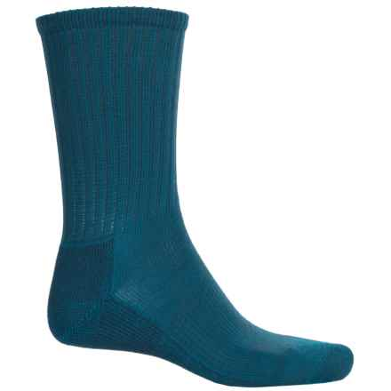 SmartWool Light Hiking Socks - Crew (For Men ad Women) in Arctic Blue - Closeouts