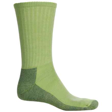 SmartWool Light Hiking Socks - Crew (For Men and Women) in Smartwool Green Heather - Closeouts