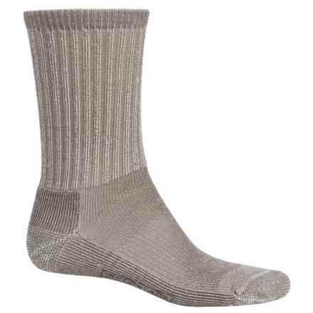 SmartWool Light Hiking Socks - Merino Wool, Crew (For Men and Women) in Taupe - 2nds