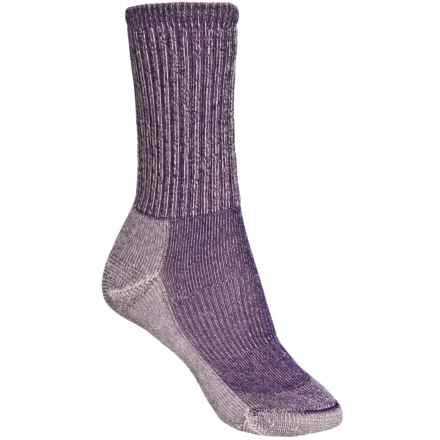 SmartWool Light Hiking Socks - Merino Wool, Crew (For Women) in Grape - 2nds