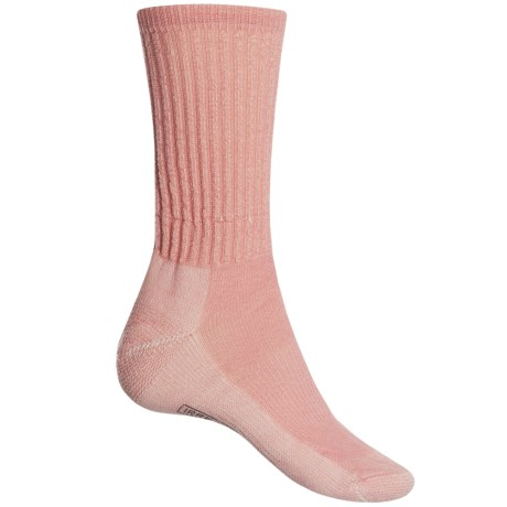 SmartWool Light Hiking Socks - Merino Wool, Crew (For Women) in Mineral Pink
