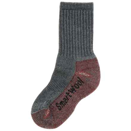 Smartwool Light Hiking Socks - Merino Wool (For Little and Big Kids) in Grey/Red - 2nds