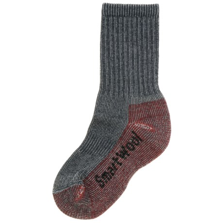 Smartwool Light Hiking Socks - Merino Wool (For Little and Big Kids) in Grey/Red