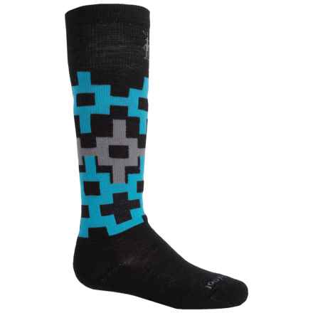 SmartWool Light Snowboarding Socks - Merino Wool, Over the Calf (For Big Kids) in Black/Blue - Closeouts