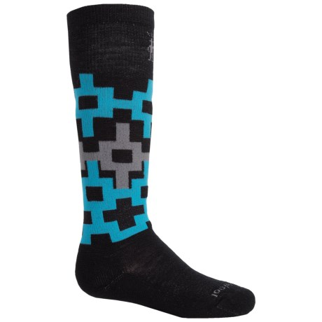 SmartWool Light Snowboarding Socks - Merino Wool, Over the Calf (For Big Kids) in Black/Blue