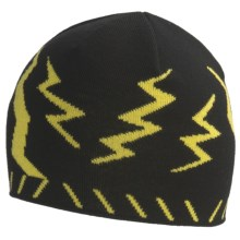 SmartWool Lightning Bolt Beanie Hat - Merino Wool (For Kids) in Black - Closeouts