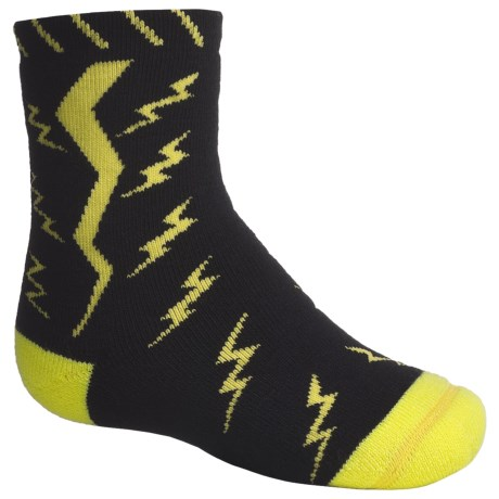 SmartWool Lightning Bolt Socks - Merino Wool, Crew (For Kids) in Black