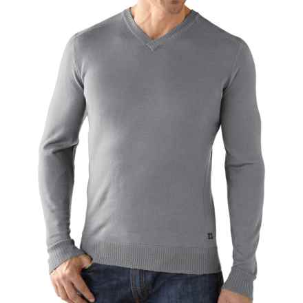SmartWool Lightweight Front Range Shirt - V-Neck, Long Sleeve (For Men) in Silver Grey Heather - Closeouts