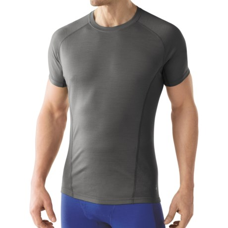 SmartWool Lightweight NTS Base Layer Top - Merino Wool, Short Sleeve (For Men) in Graphite