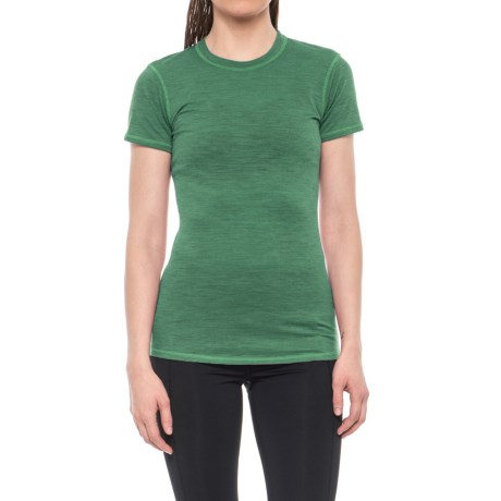 SmartWool Lightweight NTS Microweight Base Layer Shirt - Merino Wool, Short Sleeve (For Women) in Clover