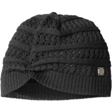 SmartWool Lightweight Pointelle Beanie Hat - Merino Wool (For Women) in Black - Closeouts