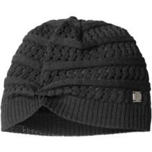 SmartWool Lightweight Pointelle Beanie Hat - Merino Wool (For Women) in Black - Closeouts