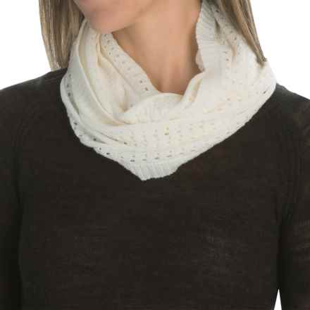 SmartWool Lightweight Pointelle Scarf - Merino Wool (For Women) in Natural - Closeouts